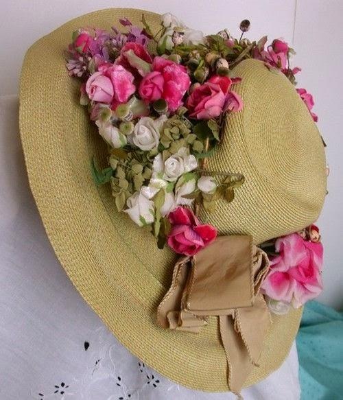 Le petit angel canotier y pamelas decoradas - Decoracion de sombreros ...