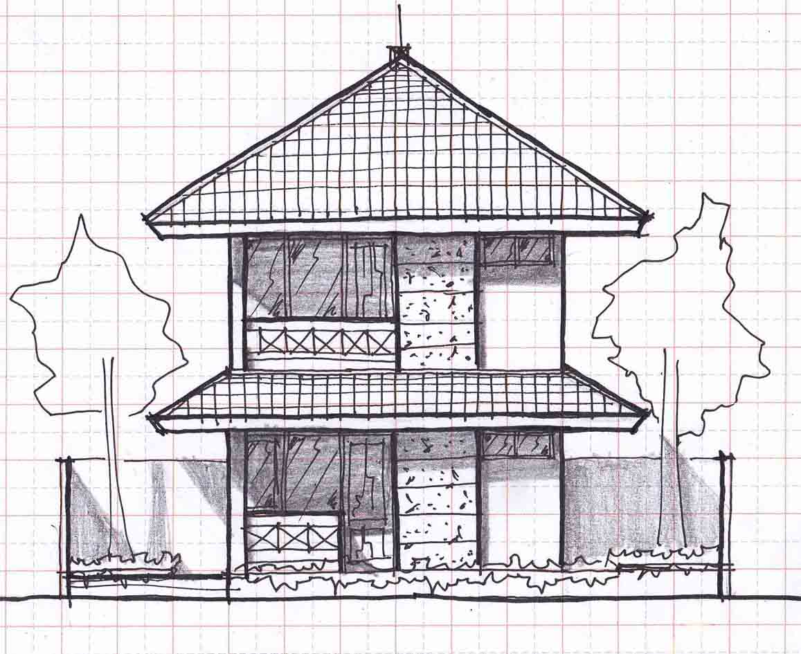Small two story house plans with balcony joy studio for Two story cabin plans