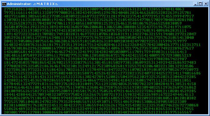 Membuat MATRIX dari CMD atau Batch File