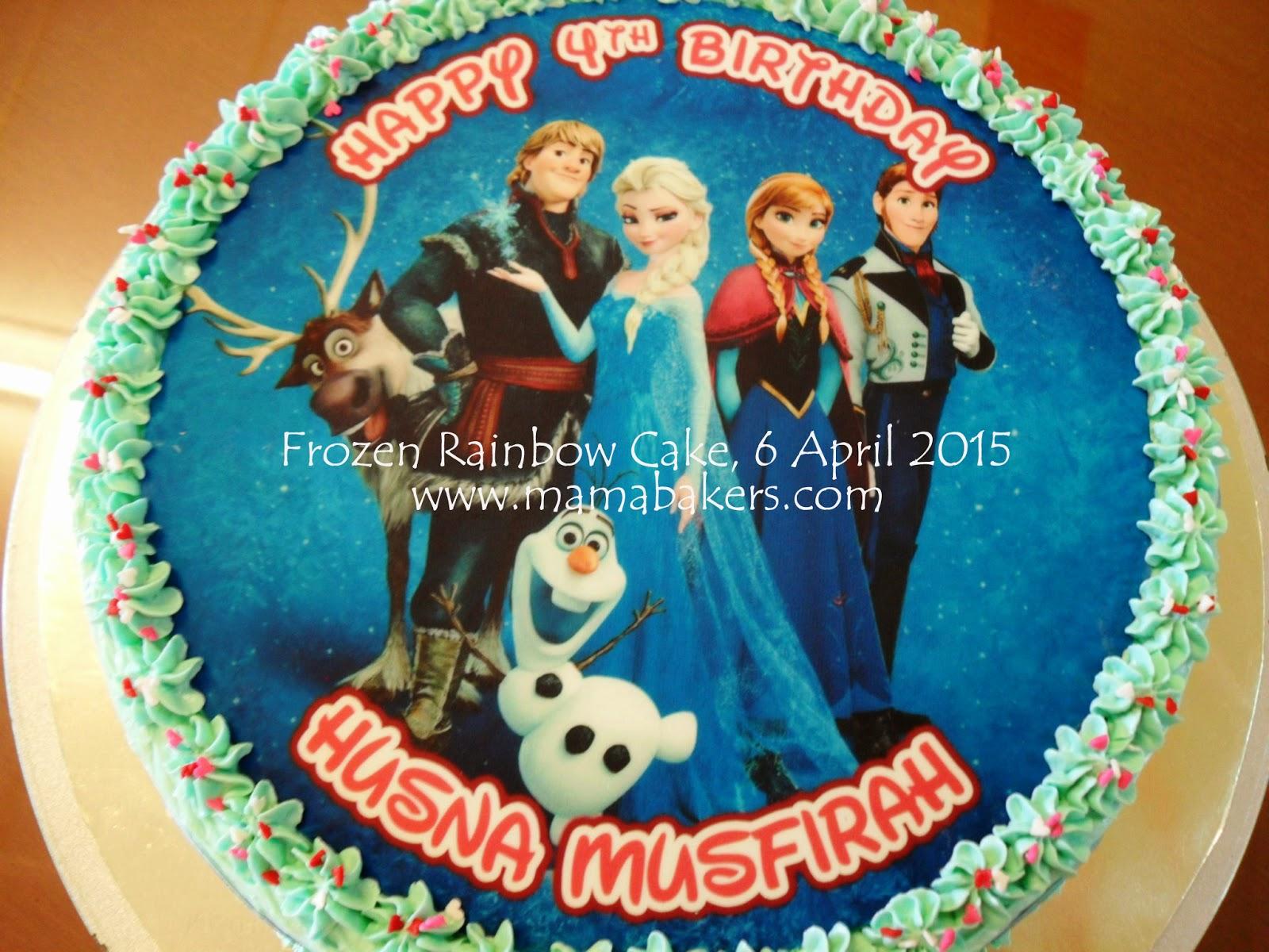 Singgah ler ke MamaBakers: Frozen Rainbow Cake