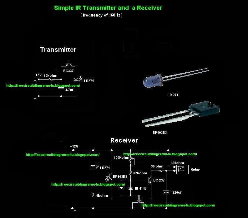 ir transmitter and receiver circuit diagram pdf