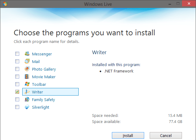 Windows Live Essentials Apps