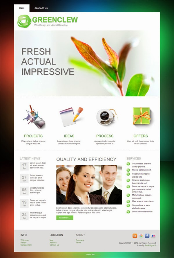 Green Clew - Free Wordpress Theme