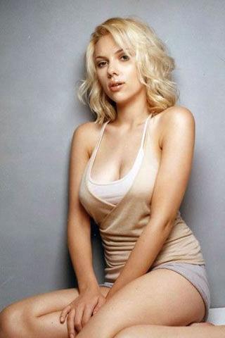 Wallpaper Scarlett Johansson Figure