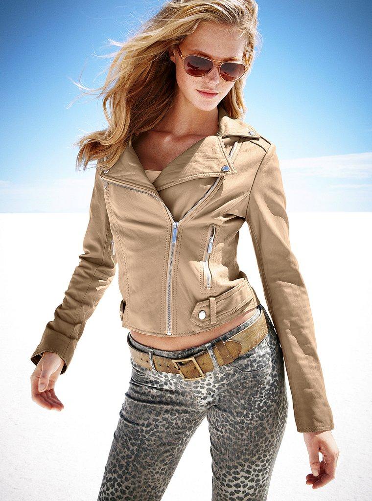 Victoria secret leather jacket