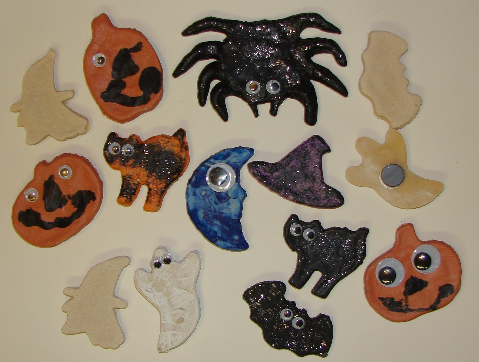 Halloween Salt Dough Magnets