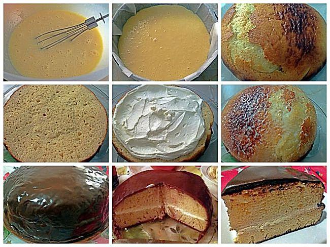Preparación del bizcocho de leche condensada para mi cumpleaños
