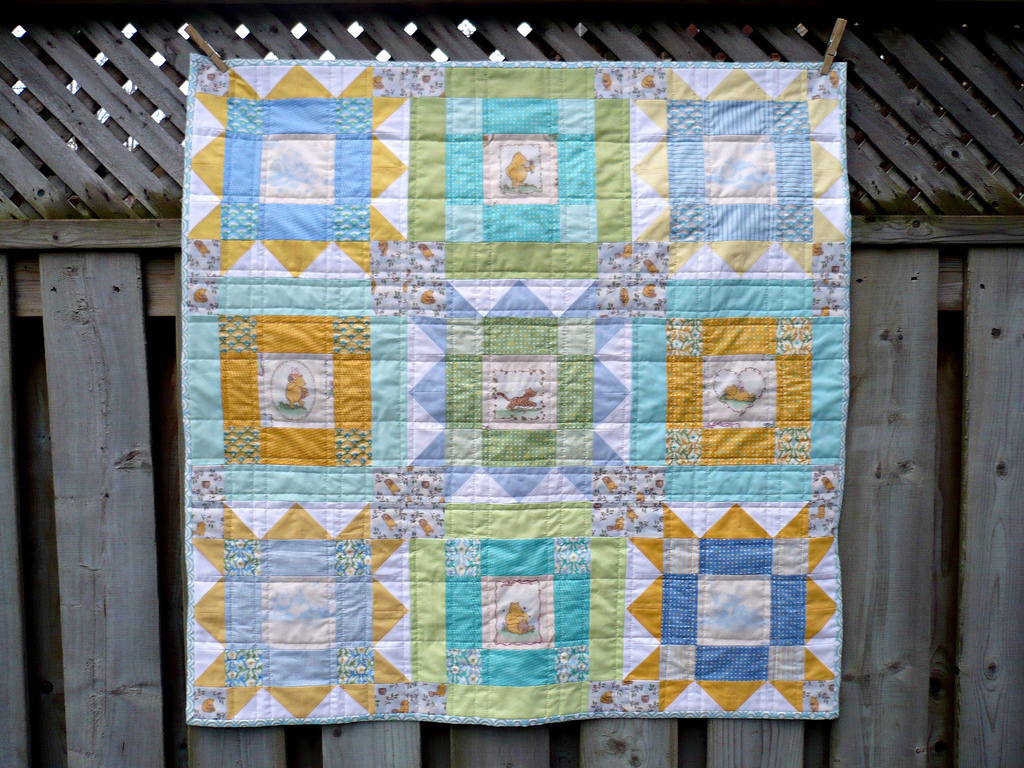 Miss Print: Whatever fortune brings, don't be afraid of doing ... : pooh quilt - Adamdwight.com
