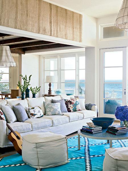 New Home Interior Design Blue Living Room