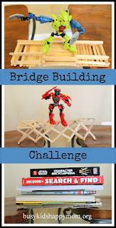 Build a Bridge Challenge from Busy Kids = Happy Mom