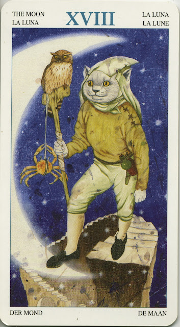 The Moon, XVII  from the Tarot of the Animal Lords