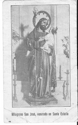 Imagen de san José existente en la Parroquia año 1931.