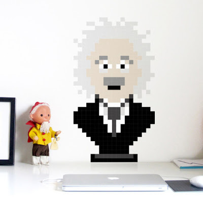 Puxxle,vinilo,pared,pixel,puzzle,decoracion,decoration,cuadrados,square,Albert Einstein