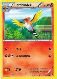 Fletchinder Phantom Forces Pokemon Card