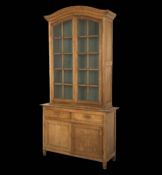 ANTIQUE OAK VITRINE $9,995.00•53.5W x 18D x 102H •stripped wood finish •painted interior as found •early 19th century •belgium, via Jayson Home as seen on linenandlavender.net
