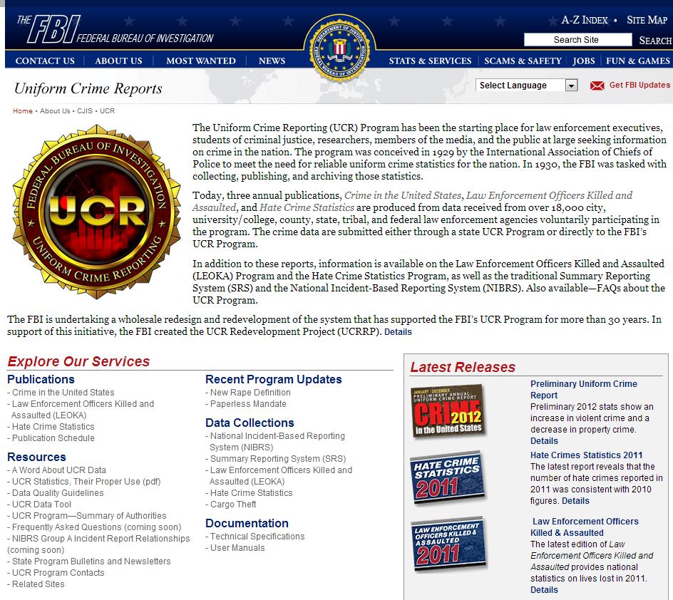 an overview of the uniform crime report and initiatives to curb the problem Fbi to report on officer-involved shootings as overall by law enforcement agencies to the fbi's uniform crime reporting nation's crime problem.