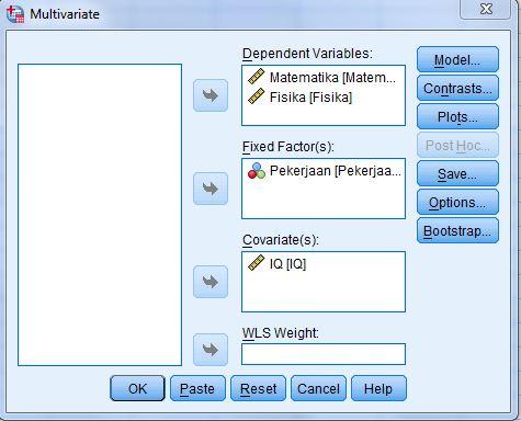 Multivariate Ancova