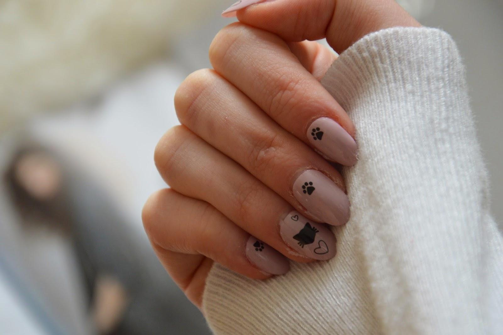 Nails, Nail art, cats, DIY