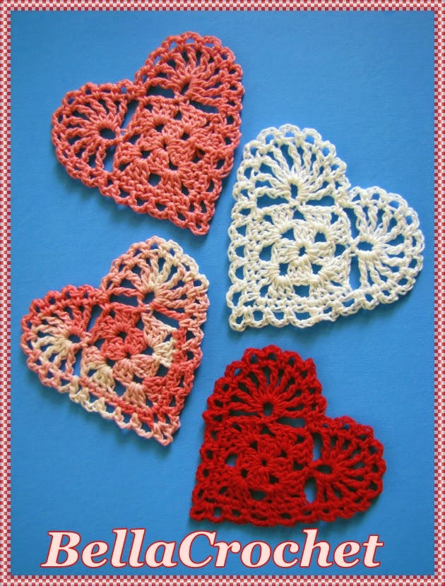 BellaCrochet: Sweetie Hearts Applique or Ornament: A Free ...