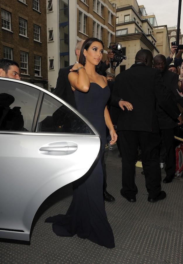 first look at KIM KARDASHIAN as she arrives at The FiFi UK Fragrance Awards 2012