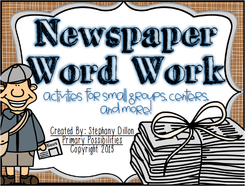 http://www.teacherspayteachers.com/Product/Newspaper-Word-Work-Activities-845442