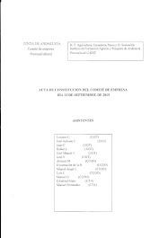 Acta de Constitución del Comité de Empresa, 12/09/2019