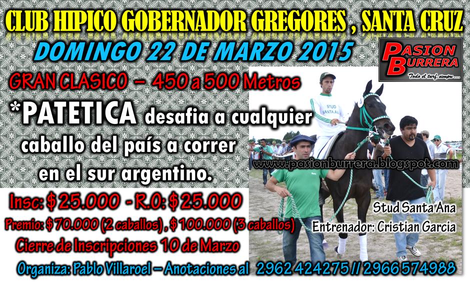 GOBERNADOR GREGORES - 22 MARZO 2015
