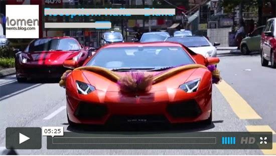 Video majlis resepsi Mewah 3 Biji Lamborghini Di majlis Perkahwinan Adik Artis ni
