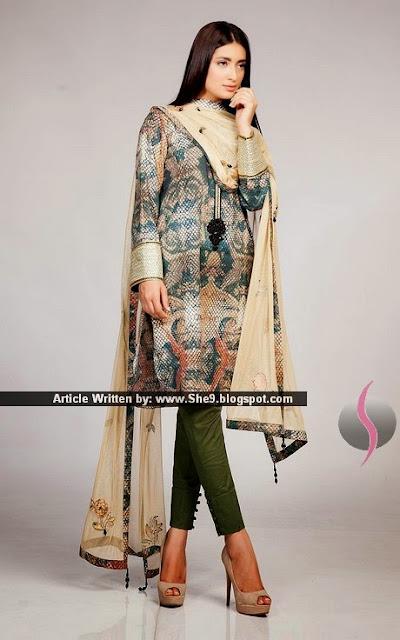 Digitally Printed Luxury Lawn Formal Dress for Eid '15