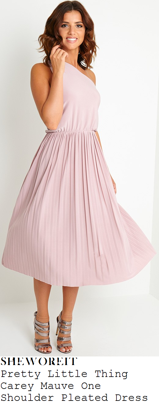 lucy-mecklenburgh-lilac-one-shoulder-pleated-midi-dress