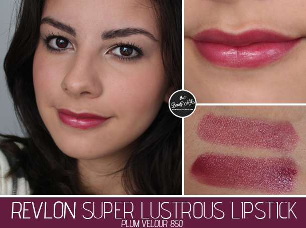 revlon plum velour lipstick review swatch