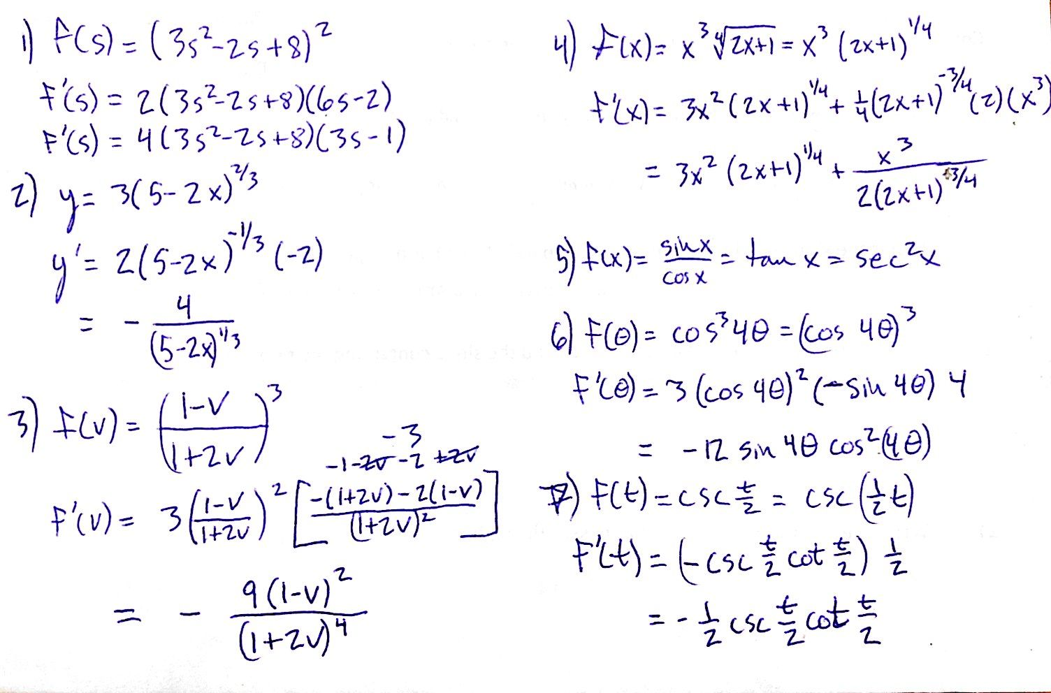 calculus problem The derivative of a function has many different interpretations and they are all  very useful when dealing with differential calculus problems this topic covers all .