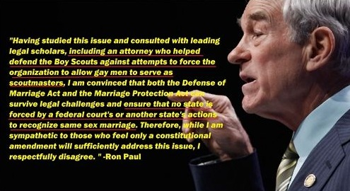 Ron paul gay marrige
