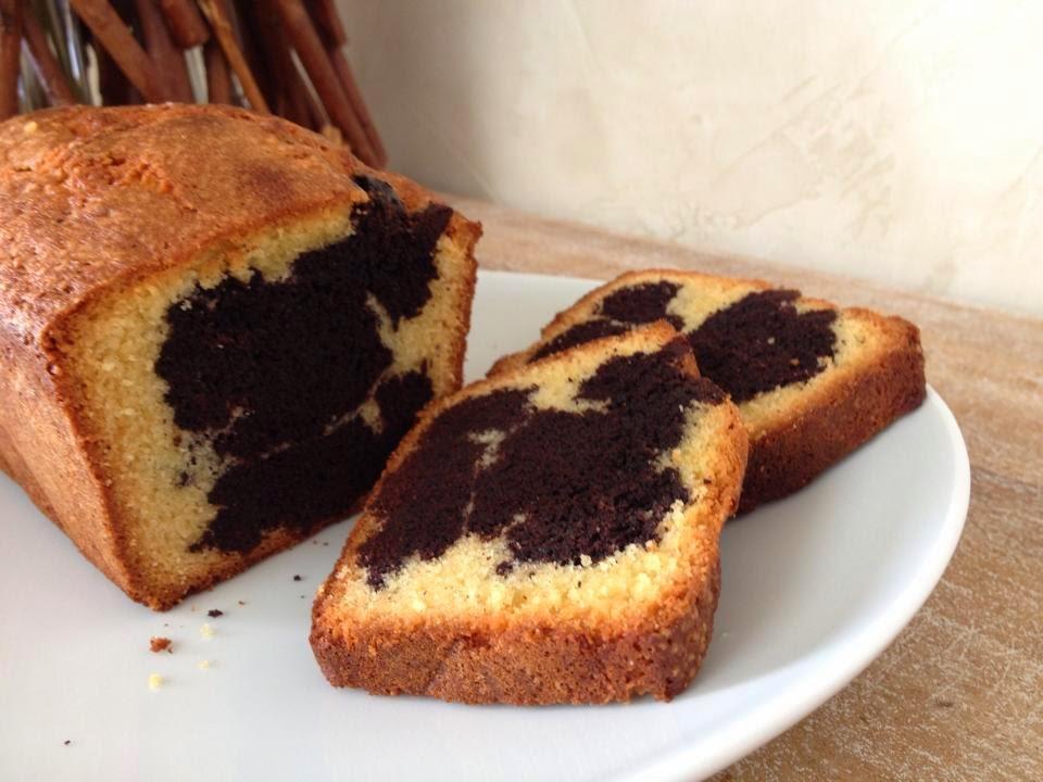 Cake marbr au cacao de pierre herm en k de gourmandises for Cake au chocolat pierre herme