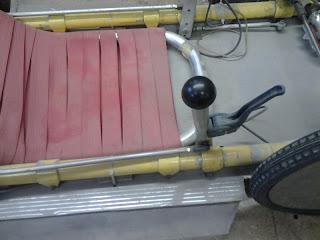 une velomobile traction avant avec circuit de chaine spécial Kingcycle+3+
