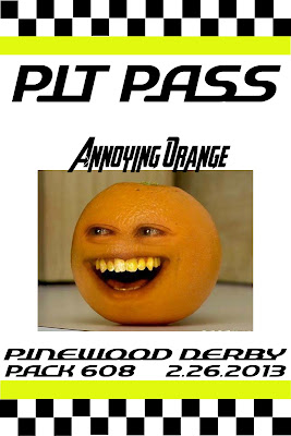 seeshellspace  Pinewood Derby   Pit Passes