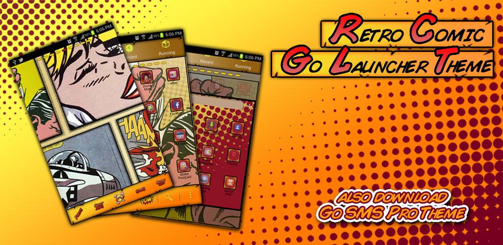 jv designs retro comic go launcher theme