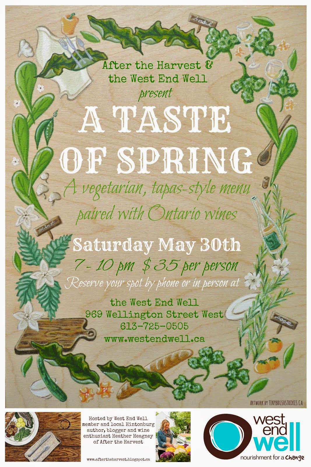 A Taste of Spring Wine & Food Event: May 30, 2015