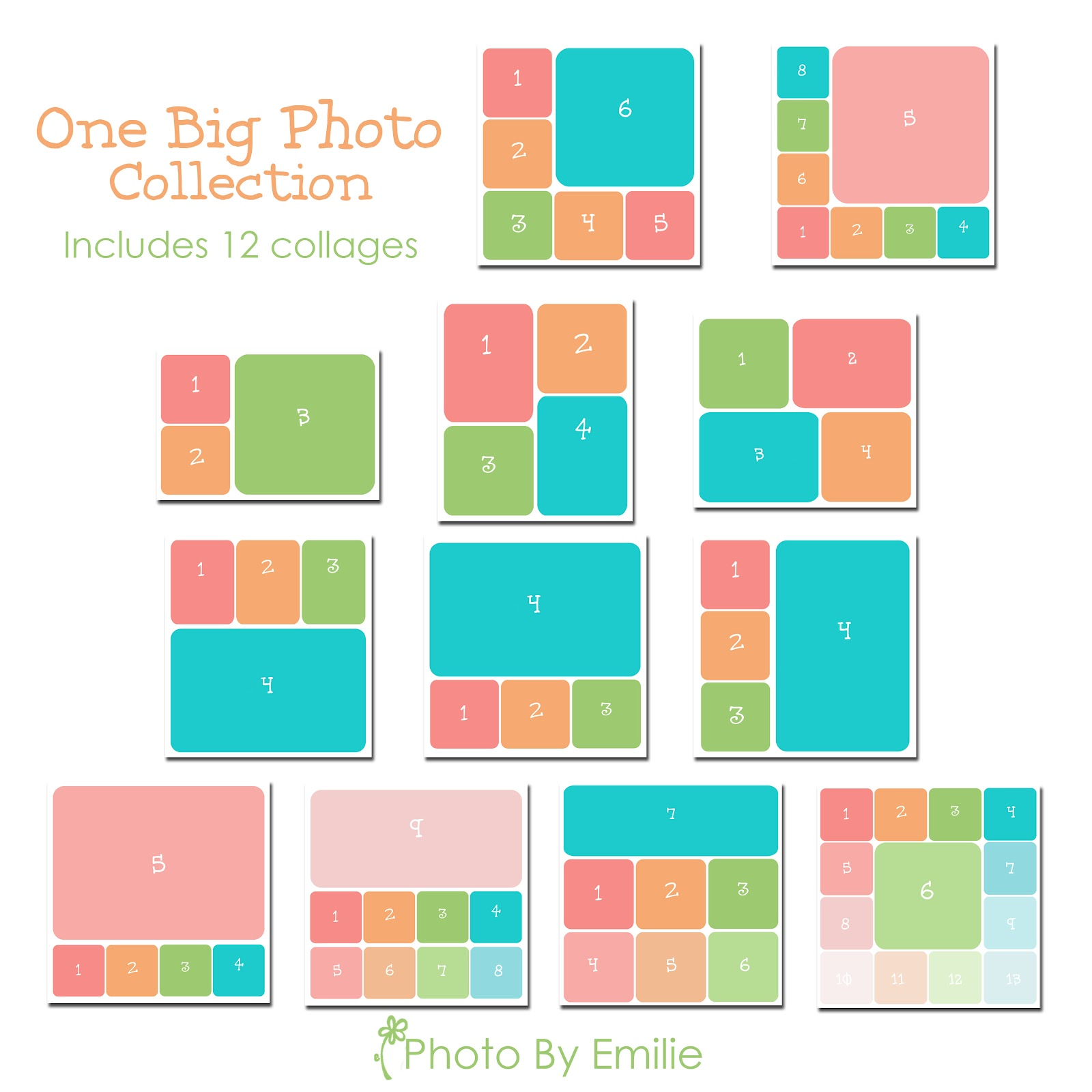 Collage templates for 4 picture collage template