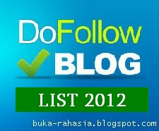 Blog Dofollow 2012