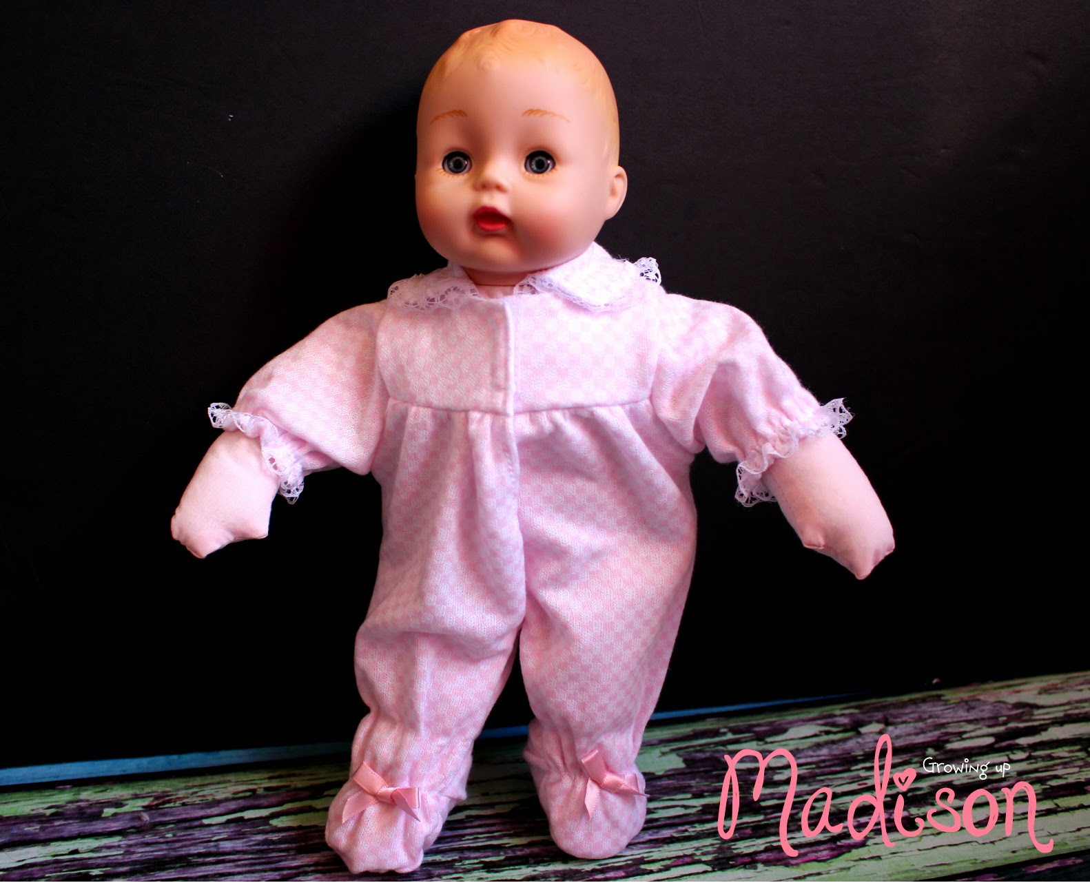 Madame Alexander Baby Huggums With Pink Check Onesie