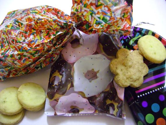 saquinhos decorados com biscoitos