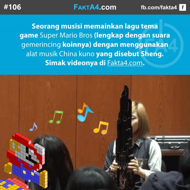 Lagu Tema Super Mario Bros dengan Sheng