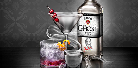 Jim Beam Jacob's Ghost White Whiskey (Jim Beam Jacob's Ghost White Whiskey Price $22) The Jim Beam Jacob's Ghost White Whiskey is no typical moonshine. Inspired by the white whiskey distilled by founder Jacob Beam.