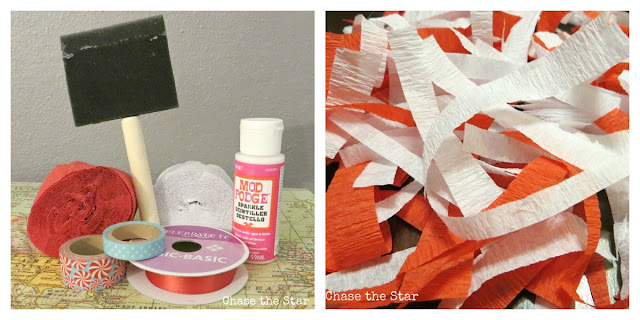 diy, christmas, holiday, ornament, mod podge, streamers, washi tape, craft tape, craft, tree, lights