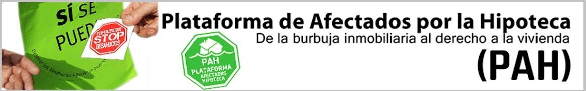 WEB de la PAH. Plataforma de afectadxs por la Hipoteca
