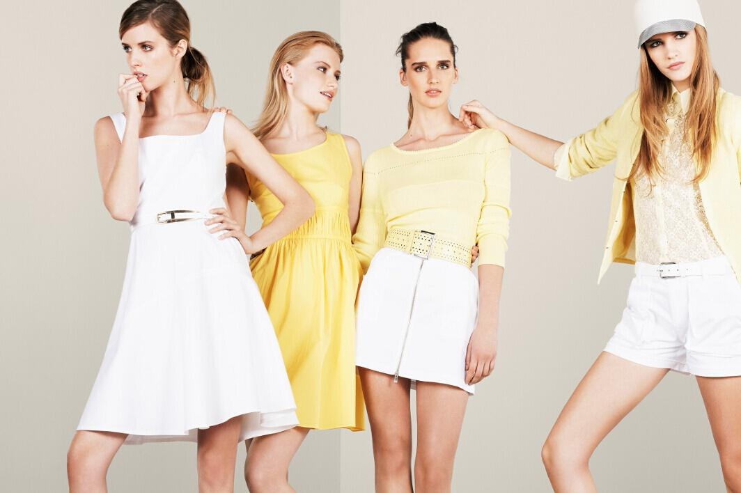 beyaz kemerli elbise, sarı kemerli elbise, bol kesim elbise , dantelli elbise