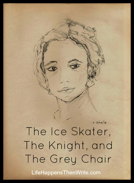 The Ice Skater, The Knight, and The Grey Chair {LifeHappensThenWrite.com}