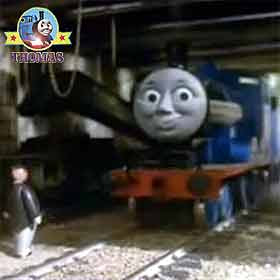 The Fat Controller tolled Edward the train Percy and Thomas the tank engine friends could run away