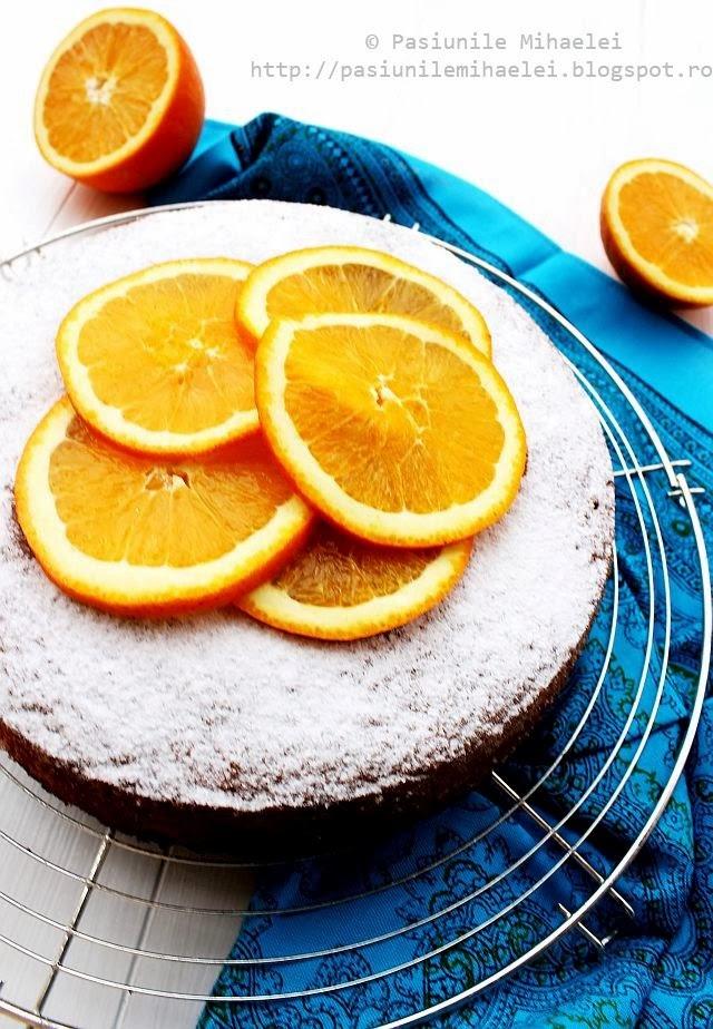 Prajitura rapida cu portocale